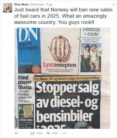 Auto elettriche Elon Musk