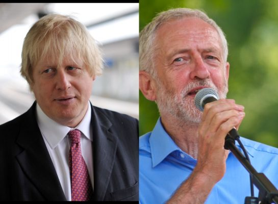 Boris Johnson e Corbyn