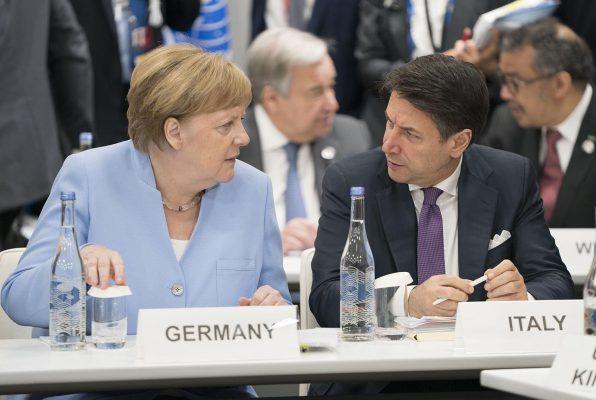 merkel conte Italia Germania