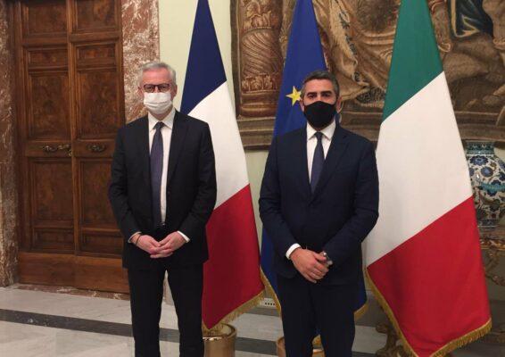 italia francia spazio