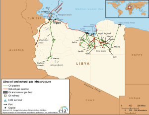Libia, infrastrutture energetiche
