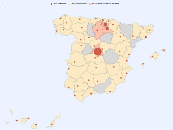 Spagna E Isole Baleari Cartina.Ecco Come Avanza Il Coronavirus Anche In Spagna Startmag
