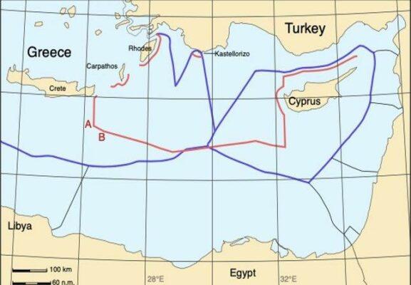 Cartina Italia Grecia Turchia.Come Grecia Ed Egitto Amoreggiano Sulle Zee Contro La Turchia Startmag
