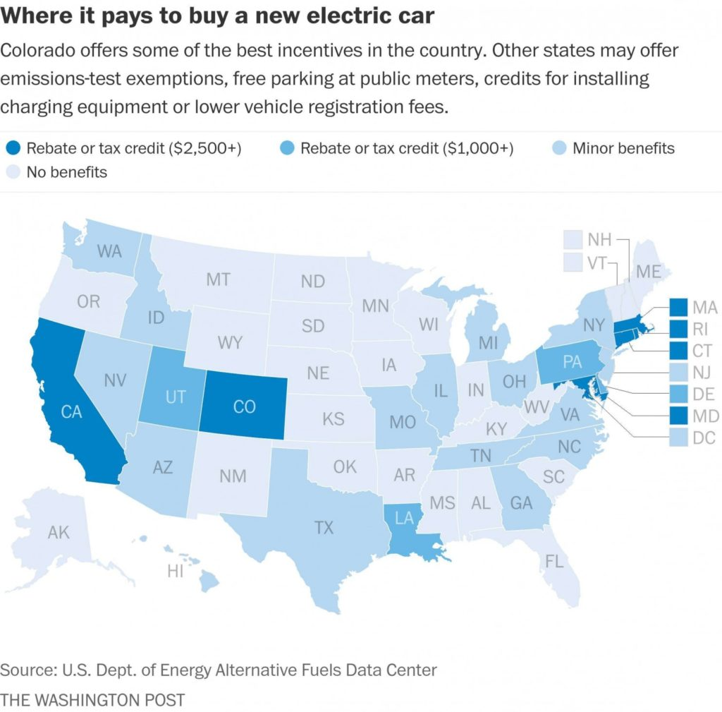 auto elettrica Usa
